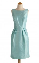 Gorgeous Pool A Line Bateau Taffeta Bridesmaid Dresses (BSD162)