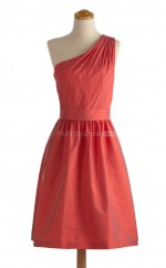 Fabulous Red A Line One Shoulder Taffeta Bridesmaid Dresses (BSD163)