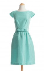 Hot Sale Pool A Line Bateau Taffeta Bridesmaid Dresses (BSD165)