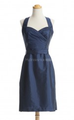 Hot Sale Dark Navy Column/Sheath Sweetheart Taffeta Bridesmaid Dresses (BSD171)