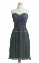 Fabulous Silver A Line Sweetheart Lace Bridesmaid Dresses (BSD175)