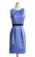 Discount Lavender Column/Sheath Jewel Satin Bridesmaid Dresses (BSD182)