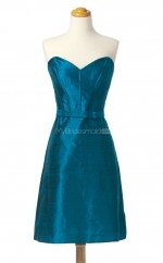 Vogue Ocean Blue A Line Sweetheart Taffeta Bridesmaid Dresses (BSD192)