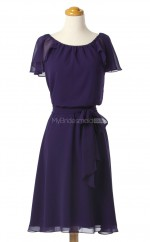 Hot Sale Regency A Line Scoop Chiffon Bridesmaid Dresses (BSD224)