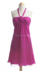 Fashion Fuchsia A Line Halter Chiffon Bridesmaid Dresses (BSD248)