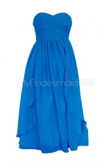 Custom Color Sweetheart Chiffon Short Bridesmaid Dress BSD265