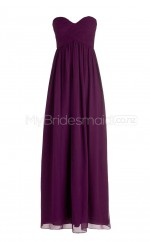 Custom Color Sweetheart Chiffon Long Bridesmaid Dress BSD270