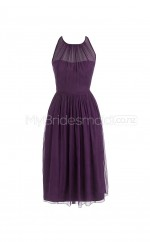 Custom Color Jewel Chiffon Short Bridesmaid Dress BSD275