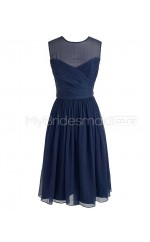 Custom Color Jewel Chiffon Short Bridesmaid Dress BSD280