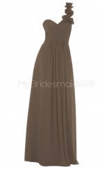 Custom Color Long Chiffon Bridesmaid Dress BSD297