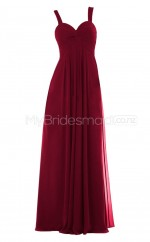Custom Color Long Chiffon Bridesmaid Dress BSD307