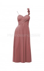 Custom Color Straps Chiffon Short Bridesmaid Dress BSD310