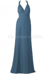 Custom Color Column/Sheath Long Bridesmaid Dress BSD319