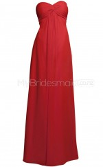 Custom Color Chiffon Long Bridesmaid Dresses BSD323