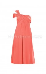 Custom Color One Shoulder Chiffon Short Bridesmaid Dress BSD330