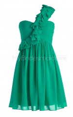 Custom Color Short Chiffon Bridesmaid Dress BSD337