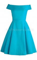 Satin Short Bridesmaid Dresses with Short Sleeves BSD338