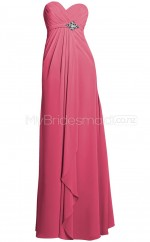 Custom Color Chiffon Long Bridesmaid Dresses BSD343