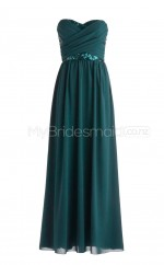 Custom Color Long Chiffon Bridesmaid Dress BSD347
