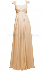 Custom Color Long Chiffon Bridesmaid Dress BSD362