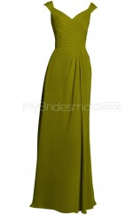 Custom Color Long V Neck Bridesmaid Dresses BSD376