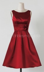 Custom Color Short Satin Bridesmaid Dress BSD377