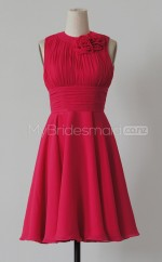Custom Color Short Chiffon Bridesmaid Dress BSD382