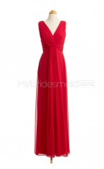 Custom Color Long V Neck Bridesmaid Dresses BSD406