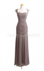Custom Color Straps Chiffon Long Bridesmaid Dress BSD415