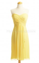 Custom Color A Line Short Bridesmaid Dress BSD419