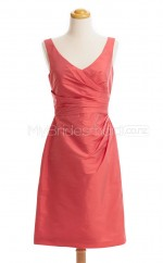 Custom Color Taffeta Short Bridesmaid Dresses BSD423