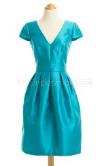 Custom Color Stretch Satin Short Bridesmaid Dresses BSD428