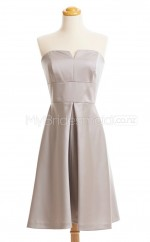 Custom Color Short Strapless Bridesmaid Dresses BSD431
