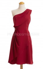Custom Color Short Chiffon Bridesmaid Dress BSD437