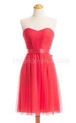Custom Color Tulle Short Bridesmaid Dresses BSD443