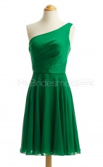 Custom Color A Line Short Bridesmaid Dress BSD444