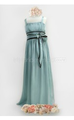 Sky Blue Long A Line Chiffon Junior Bridesmaid Dress (NZJBD06-019)