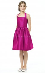 Fuchsia Knee-length Princess Taffeta Junior Bridesmaid Dress (NZJBD06-021)