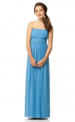 Pool Long A Line Chiffon Junior Bridesmaid Dress (NZJBD06-022)