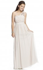 Ivory Long A Line Chiffon Junior Bridesmaid Dress (NZJBD06-027)