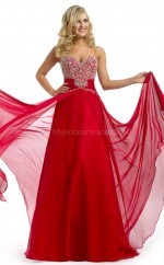 Chiffon A-line Sweetheart Floor-length Red Ball Dresses (NZJT06011)