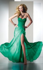 Silk Like Chiffon Sheath Sweetheart Floor-length Jade Ball Dresses (NZJT06025)