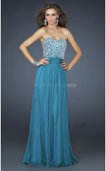 Chiffon A-line Sweetheart Floor-length Turquoise Ball Dresses (NZJT06042)