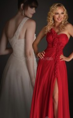 Ruby A-line Floor-length Silk Like Chiffon One Shoulder Ball Dresses (NZJT06050)