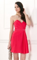 Chiffon A-line Sweetheart Neckline Short Red Ball Dresses (NZJT06059)