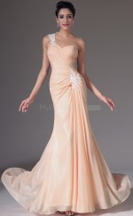 Pearl Pink Long Chiffon Bridesmaid Dress NZJT061375
