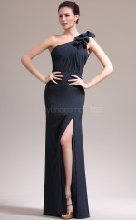 Dark Navy Chiffon Long Chic Bridesmaid Dress NZJT061387