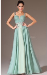 Informal Sage Chiffon Long Bridesmaid Dress NZJT061401