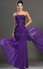 Regency Chiffon Long Elegant Bridesmaid Dress NZJT061428