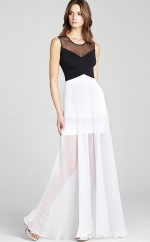 Tulle A-line Jewel Ankle-length Black Ball Dresses (NZJT06186)